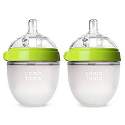 Comotomo Baby Bottle, Green, 5 Ounce, 2 Count - Baby Bottles