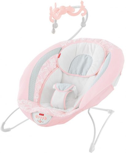 Fisher-Price Pearl Chandelier Deluxe Bouncer, Pink - Baby Bouncer