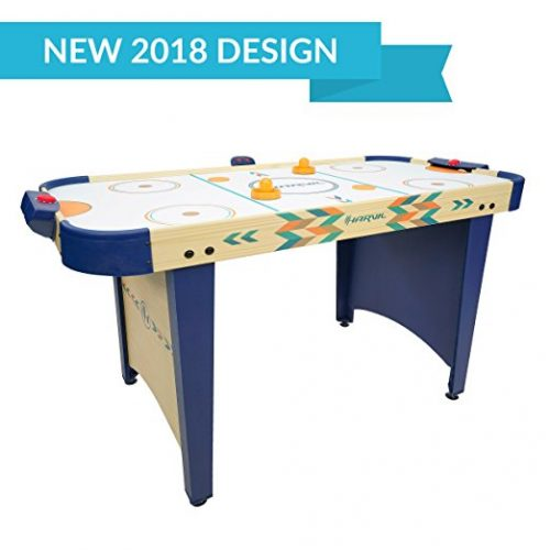 Harvil 4 Foot Air Hockey Game Table for Kids and Adults with Electronic Scorer, Free Pushers, and Pucks - Air Hockey Tables
