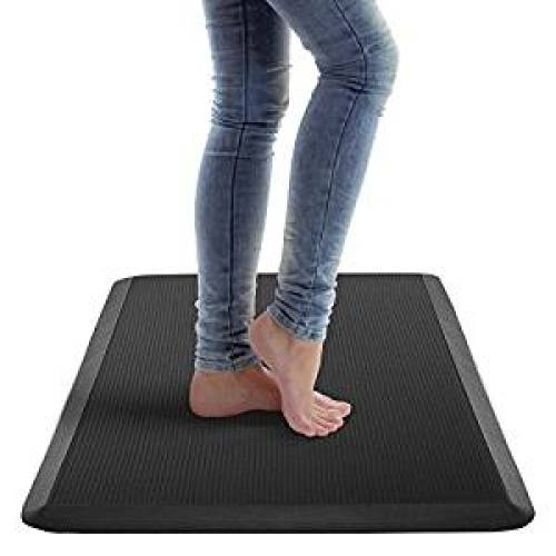 Royal Anti-Fatigue Comfort Mat - 20 in x 39 in x 3/4 in - Ergonomic Multi Surface, Non-Slip - Waterproof All-Purpose Luxurious Comfort - For Kitchen, Bathroom or Workstations - Black - Anti-Fatigue Mats