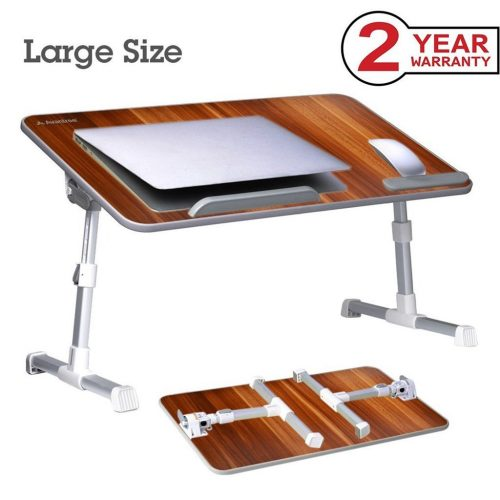 Avantree [Large Size] Adjustable Laptop Bed Table, Portable Standing Desk, Foldable Sofa Breakfast Tray, Notebook Stand Reading Holder