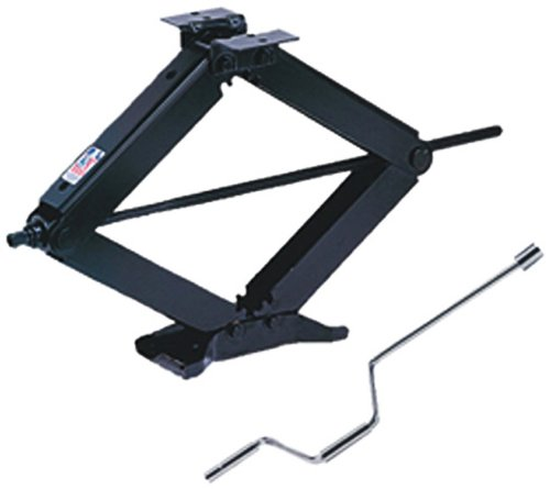 BAL R.V. Products Group 24002D Deluxe Leveling Scissor Jack - 24-Inch (With Set of (2) 20037 crank handle with swivel head) - Scissor Jacks