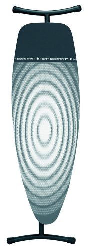 Brabantia Ironing Board with Iron Parking Zone, Size D, Extra Large - Titan Oval Cover - Ironing Boards