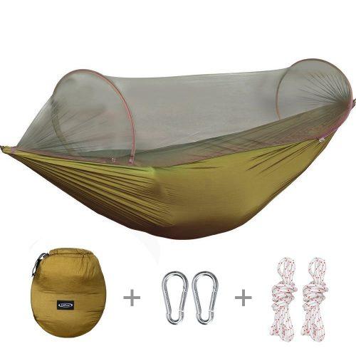 G4Free Portable & Foldable Camping Hammock Mosquito Net Hammock Tent Capacity 440 lbs Outdoor & Indoor Backyard Hiking Backpacking Tree Hammocks (110x50 inch) - Hammocks With Mosquito Net