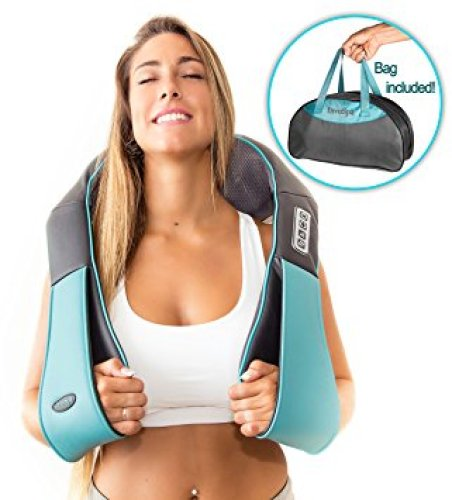 Shiatsu Back Neck and Shoulder Massager with Heat - Deep Tissue 3D Kneading Pillow Massager for Neck, Back, Shoulders, Foot, Legs – Electric Full Body Massage, Relieve Muscle pain - Office, Home & Car - neck massagers