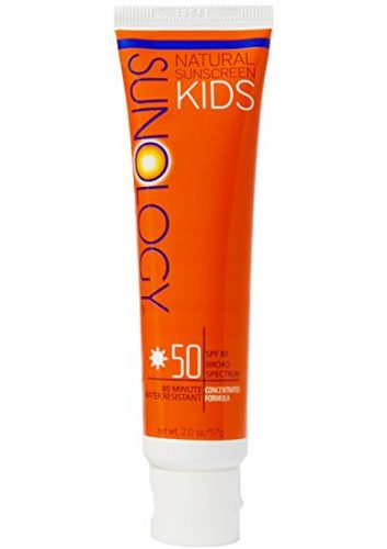 Sunology Kid's & Baby Safe Mineral Sunscreen SPF 50 Broad Spectrum Lotion, 2 Ounce Tube - Sunscreen For Kids