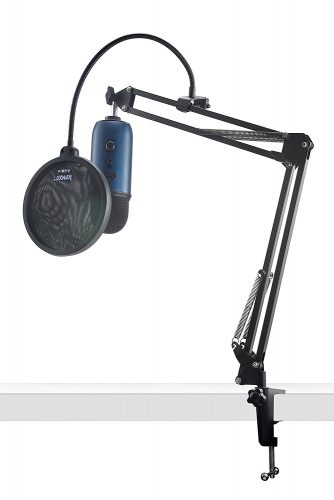Blue Microphones Yeti USB Microphone w/ Knox Desktop Arm Stand and Pop Filter