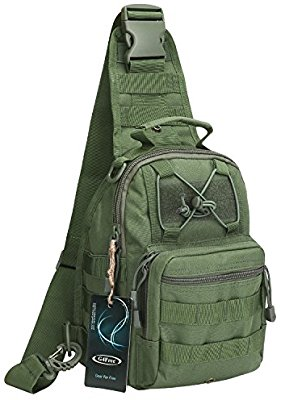 G4Free Outdoor Tactical Backpack, Military Sports Pack Daypack Shoulder Backpack for Camping, Hiking, Trekking, Rover Sling Pack Chest Pack - Fishing Backpacks & Bags