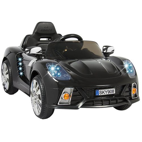 Best Choice Products 12V Kids Battery Powered Remote Control Electric RC Ride-On Car w/ MP3 and AUX - Black - Electric Cars For Kids
