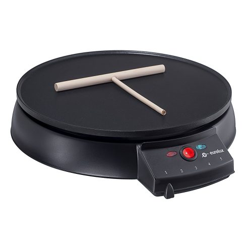 Eurolux Original French Style 12 Inch Electric Griddle and Crepe Maker - Pancake Maker Non-stick Coating Developed By the Swiss Ilag - Crepe Makers