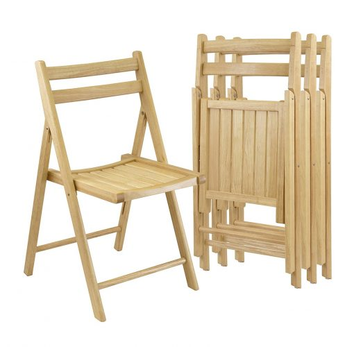 Orolay Wood Folding Chairs Dining Chair Office Chair Natural - Wooden Folding Chairs