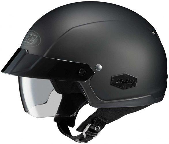 HJC Solid IS-Cruiser Half (1/2) Shell Motorcycle Helmet - Matte Black