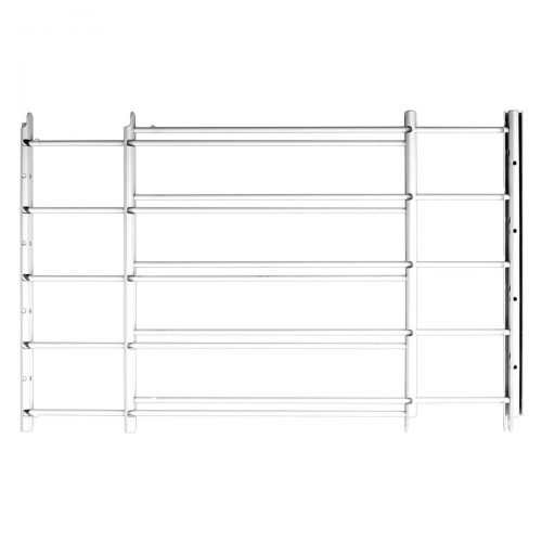 Knape & Vogt John Sterling Swing-Open Style 5-Bar Child Safety and Window Guard, White, 1135-