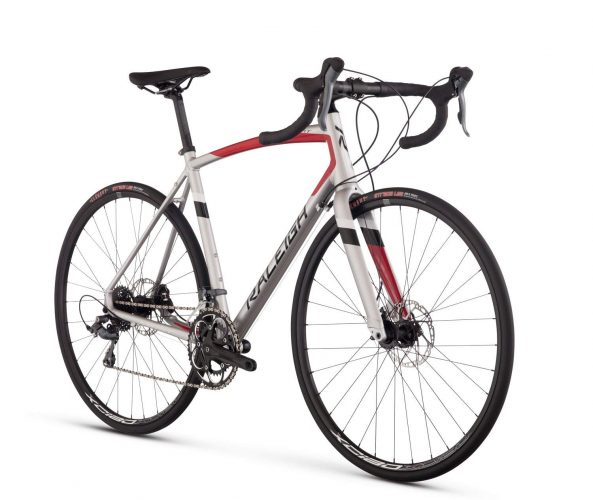 Raleigh Bikes Merit 2 Endurance Road Bike, Silver, 58cm/X-Large