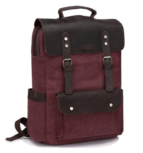 15.6 inch Laptop Business Travel Rucksack for School Burgundy