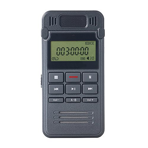 Digital Voice Recorder, ieGeek Portable Sound Audio Recorder, 8GB Rechargeable Recording Dictaphone with One-button Recording for Class, Lectures, Conferences, Meetings or Interviews - Portable Digital Voice Recorders