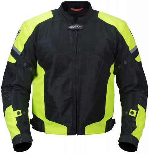 Pilot Motosport Men's Direct Air Mesh Motorcycle Jacket (V3) (Hi-Vis, XX-Large)