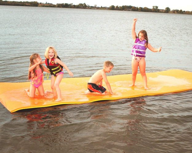 Redneck Convent Jumbo Water Mat Floating Island for Lake, 18' x 6' Foot – Aqua Mat Floating Mat Island Float Lily Pad Pool & Water Toy