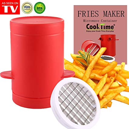 Potatoes Maker French Fries Maker Potatoes slicer and Chipper 2 in 1 Fries Cutter Machine