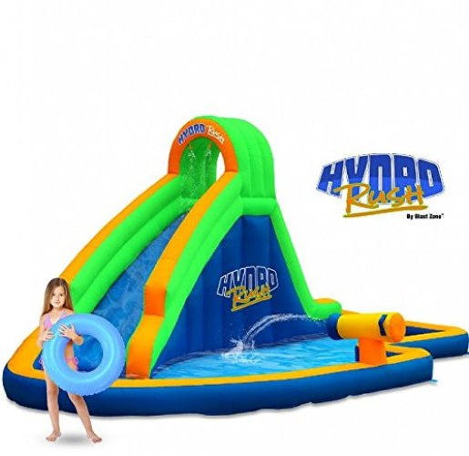 Blast Zone Hydro Rush Inflatable Water Park - Inflatable Pool Slides