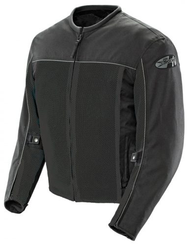 Joe Rocket Velocity Men's Mesh Riding Jacket (Black, Large)