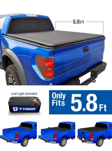 Tyger Auto TG-BC1C9006 TOPRO Roll Up Truck Bed Tonneau Cover 2014-2019 Chevy Silverado/GMC Sierra 1500 | Fleetside 5.8' Bed | For models without Utility Track System - Truck Bed Covers