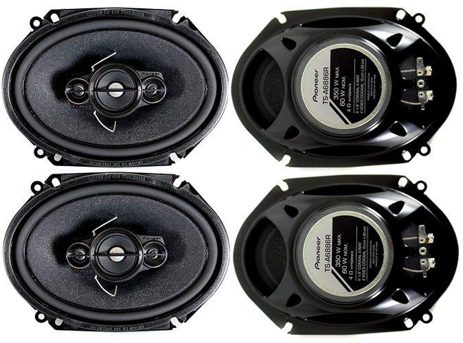 4) Pioneer 5x7 / 6x8 Inch 4-Way 350 Watt Car Stereo Speakers Four | TS-A6886R
