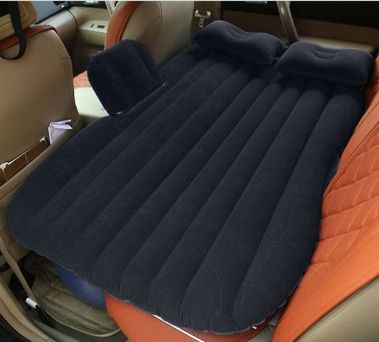NEX Car Inflatable Mattress Car Bed Mobile Cushion Camping Air Bed with Motor Pump Two Pillows for Travel and Sleep Rest