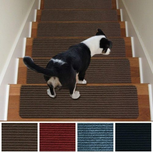 Top 10 Best Carpet For Stairs In 2020   Gloria Rug Stair Treads   Rubber Backing   8.5 X26   Decor Rugs   Overstock   Area Rug