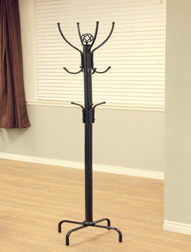Frenchi Home Furnishing 12-Hook Metal Coat Rack, Black