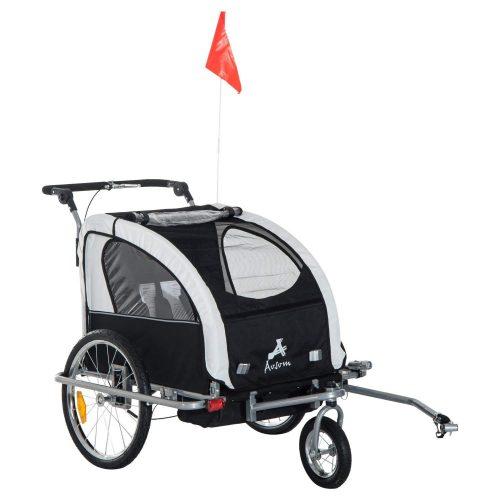 Aosom Elite II 3in1 Double Child Bike Trailer - bike trailers