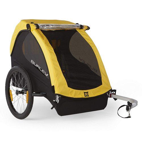 Burley Design Bee Bike Trailer, Yellow - bike trailers