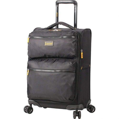 """LUCAS Ultra Light Weight Originals 20"""" Exp Spinner (Black) - Lightweight luggage"""