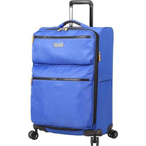 """LUCAS Ultra Light Weight Originals 24"""" Exp Spinner (Blue) - Lightweight luggage"""