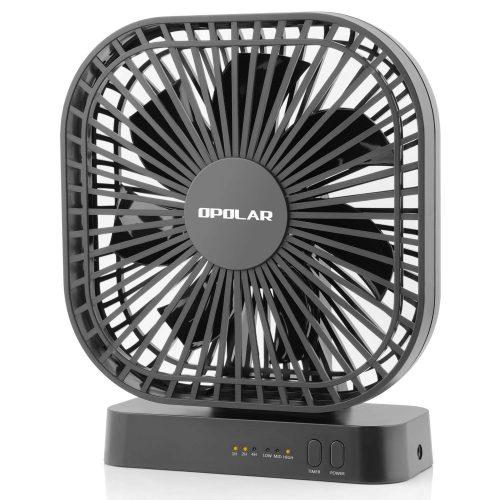 OPOLAR 5 Inch Desk Fan with Timer - portable desk fans