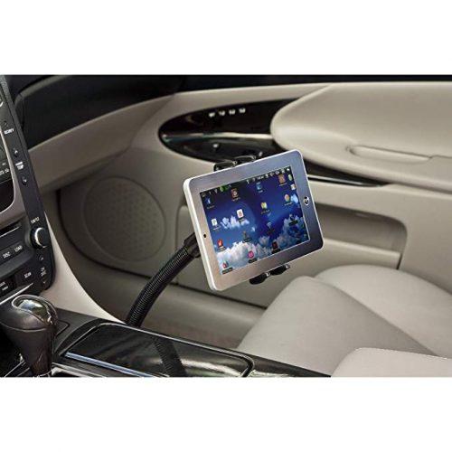 "Premium Seat Bolt Car Mount Vehicle Holder for Samsung Galaxy Tab S2 S3 S4 A E S9 S8 S7 Plus/Apple iPad Mini, Apple iPhone X 8 7 6 Plus/LG G Pad (5-8"") Phones or Tablets w/Vibration-Free Cradle - Ipad Car Mounts"