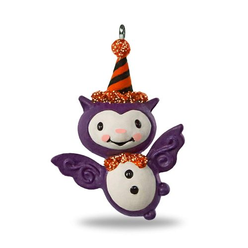 "Hallmark Keepsake Halloween Decor Mini Ornament 2018 Year Dated, Bitty Bat Miniature, 1.41"""