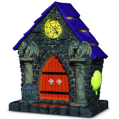Hallmark Keepsake Halloween Decor Ornament 2018 Year Dated, Haunted House Ghostly Mausoleum with Music and Light