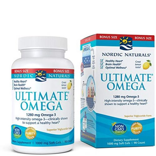 Nordic Naturals Ultimate Omega SoftGels - Concentrated Omega-3 Burpless Fish Oil Supplement with More DHA & EPA, Supports Heart Health, Brain Development and Overall