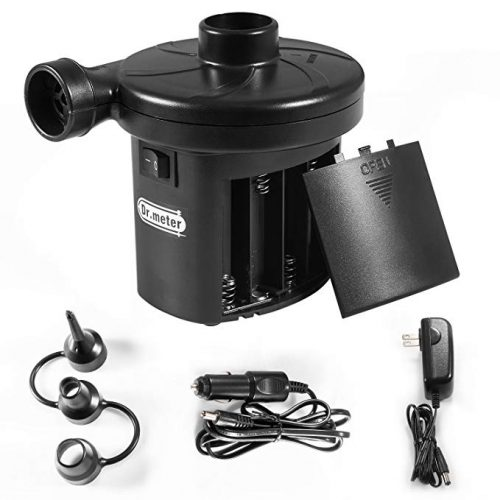 Battery Air Pump, Dr.meter Electric Air Pump Inflate Deflator - Electric Portable Air Mattress Pumps