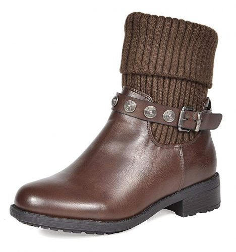DREAM PAIRS Women's Mid Calf Military Combat Boots - Combat Boots For Women