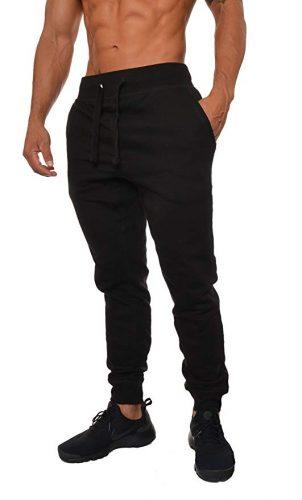 YoungLA Mens Slim Fit Joggers Fitness Activewear Sports Fleece Sweatpants - Sweatpants for Men