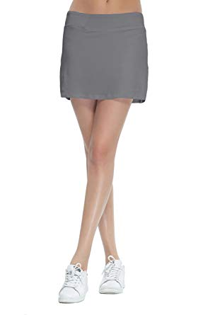 HonourSport Women's Club Pleated Golf Skorts Casual Running Skirt with Underneath Shorts