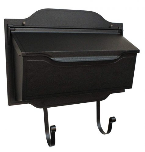 Special Lite Products SHC-1002-BLK Horizontal Mailbox, Black - wall mount mailboxes