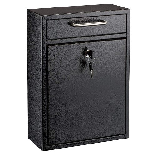 AdirOffice Locking Drop Box Wall Mounted Mailbox - wall mount mailboxes