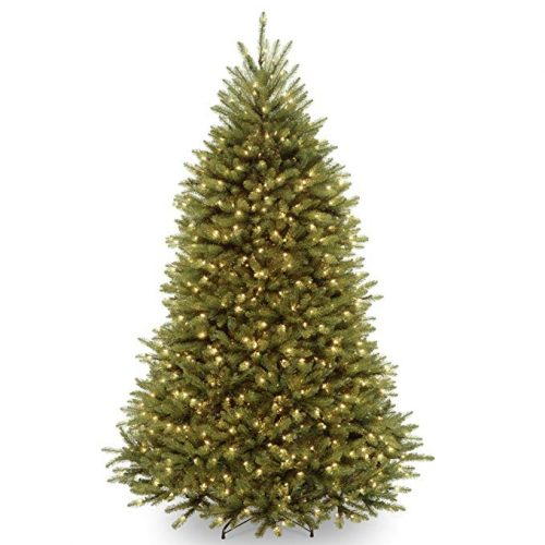 National Tree 7.5 Foot Dunhill Fir Tree with 700 Dual LED Lights - Artificial Christmas Trees