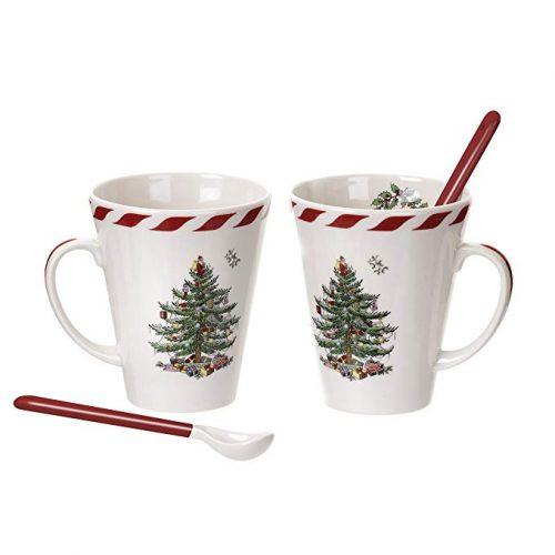Spode Christmas Tree Peppermint Mugs - Christmas Mugs
