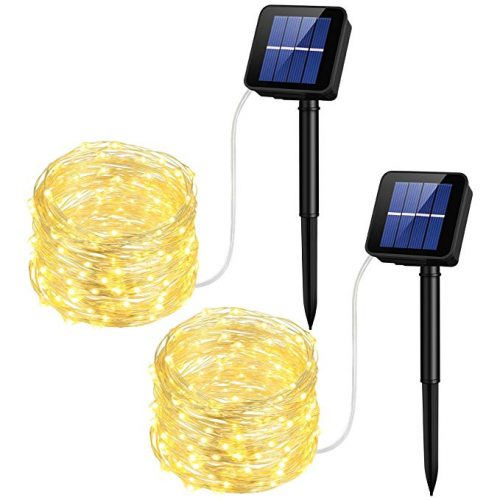 Mpow Solar String Lights, 33ft 100LED Outdoor String Lights - Christmas LED Wire Lights