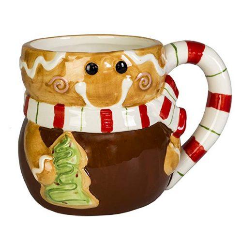 Gingerbread Man Holiday Character Christmas Coffee Mug - Christmas Mugs