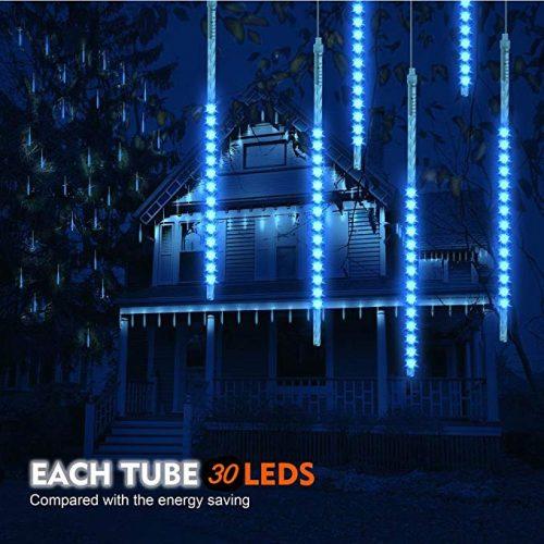 Meteor Shower Rain Lights 30cm, LED Cascading Lights - LED String Lights for Christmas